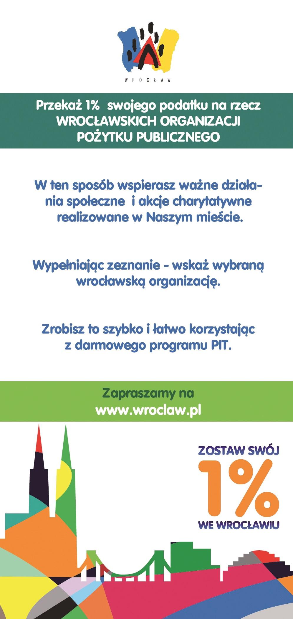 Zostaw swój 1 proc. we Wrocławiu