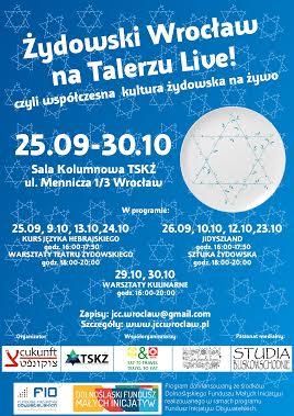 Cukunft - Żydowski Wroclaw na Talerzu - plakat informacyjny (3)