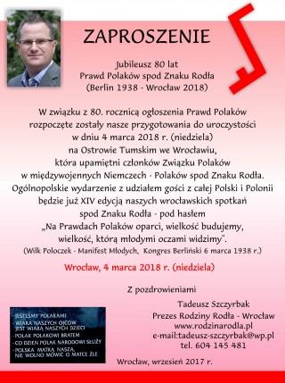 80 lat Prawd Polaków spod Znaku Rodła-Wrocław, 4 marca 2018-1