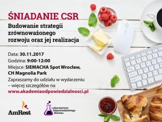 Śniadanie CSR plakat