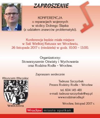 Sala Wielka Ratusza-konferencja o reparacjach wojennych-26 listopada 2017 r.