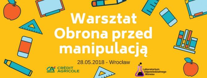 _Warsztat - Obrona przed manipulacją - plakat
