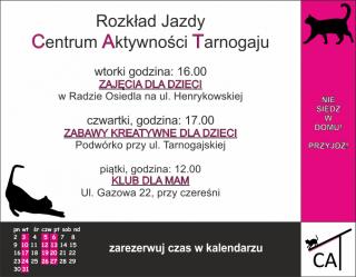 Centrum Aktywności Tarnogaju zaprasza na zajęcia w lipcu