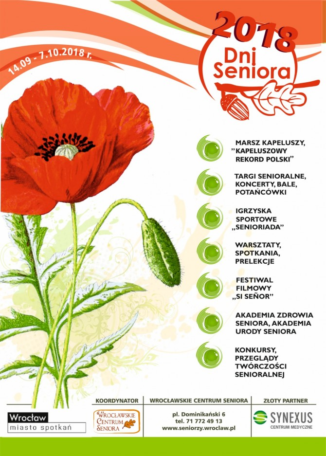 Plakat Dni Seniora 2018