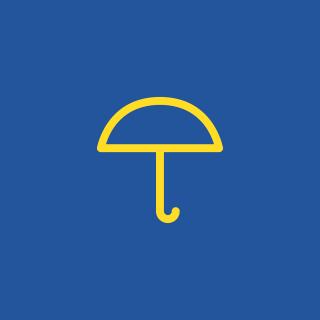 żółty parasol