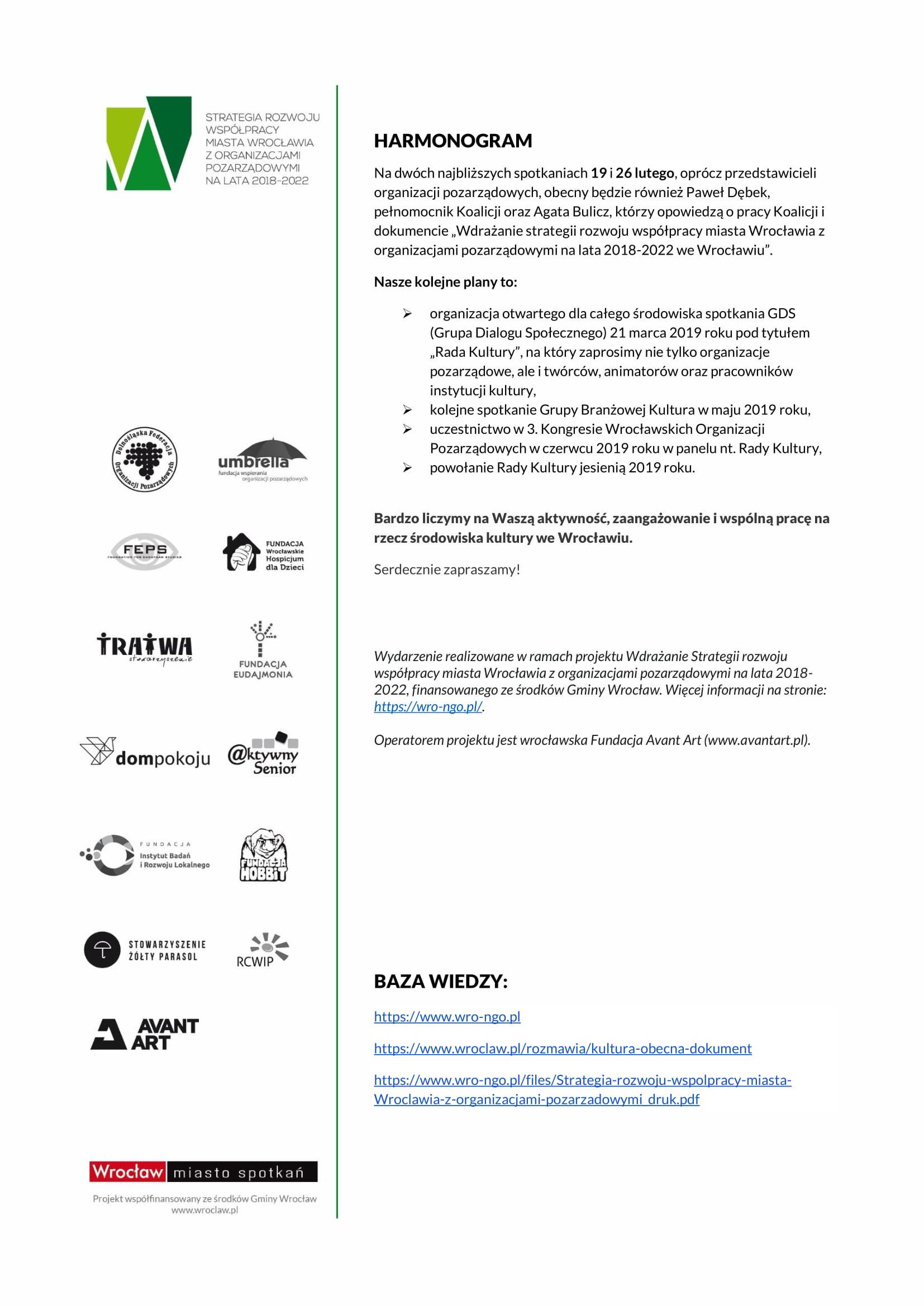 Informacje o Grupie branżowej KULTURA-2