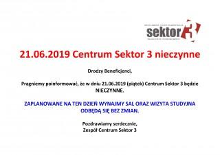 21.06.2019 nieczynne