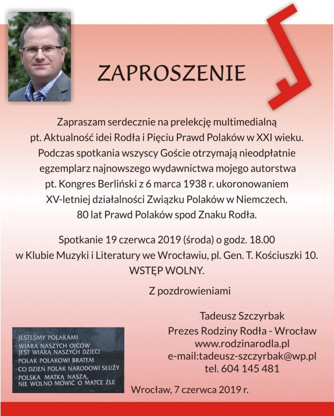 Rodło-zaproszenie -19 czerwca 2019 r.