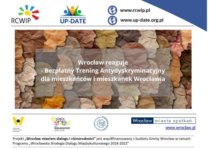 Wrocław reaguje. Bezpłatny Trening Antydyskryminacyjny dla mieszkańców i mieszkanek Wrocławia. 3-4 września 2021